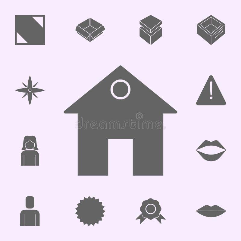 akcyjna ikona sieci ikon og?lnoludzki ustawiaj?cy dla sieci i wisz?cej ozdoby ilustracji