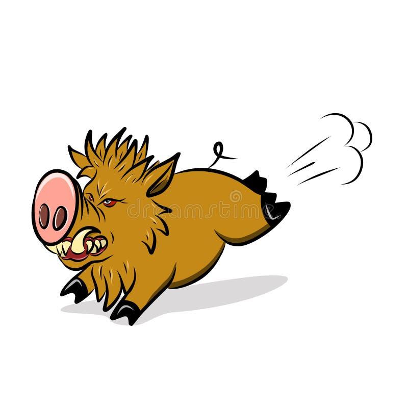 Akcyjna Ilustracyjna Dzika Okrutnie świnia ilustracja wektor