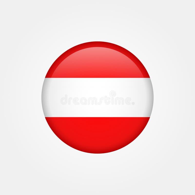Akcyjna wektorowa Austria flaga ikona 5 zdjęcie stock