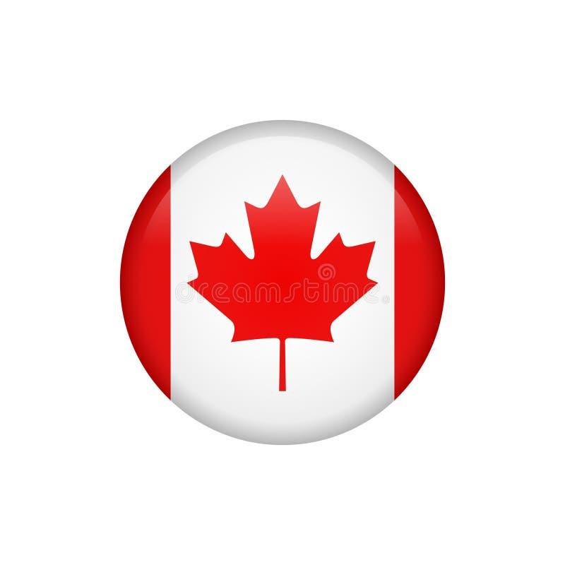 Akcyjna wektorowa Canada flaga ikona 5 royalty ilustracja