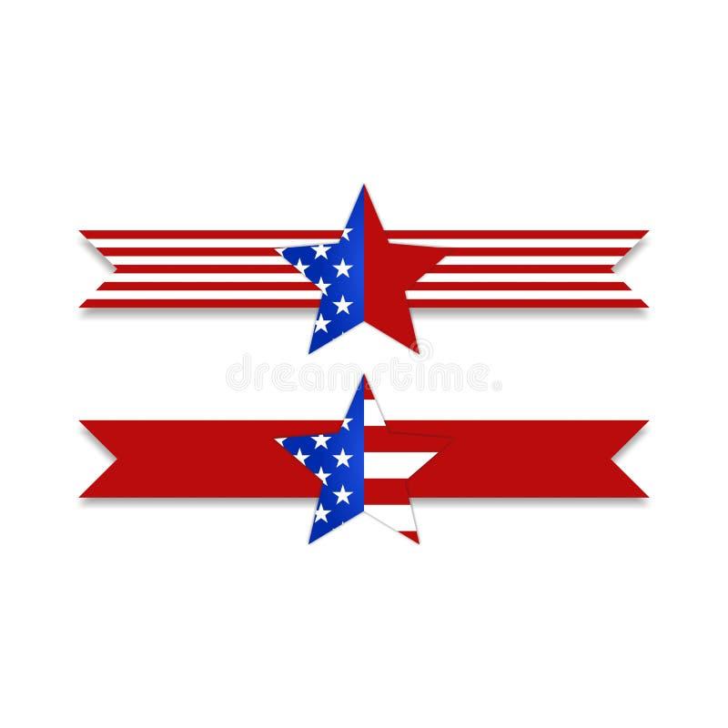 Akcyjna wektorowa flaga amerykańska zaznacza pojęcie projekta wektoru illustrat ilustracja wektor
