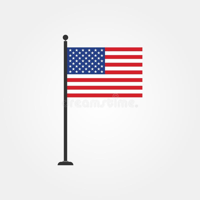 Akcyjna wektorowa flaga amerykańskiej ikona 3 ilustracja wektor