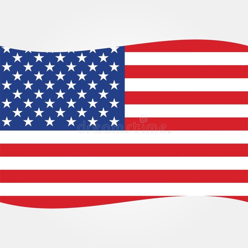 Akcyjna wektorowa flaga amerykańskiej ikona 2 ilustracja wektor