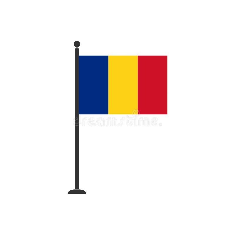 Akcyjna wektorowa Romania flaga ikona 3 ilustracja wektor