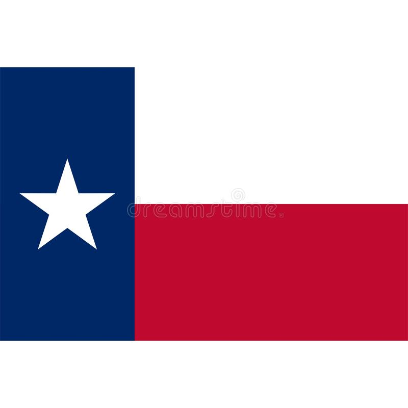 Akcyjna wektorowa Texas flagi ikona 1 ilustracja wektor