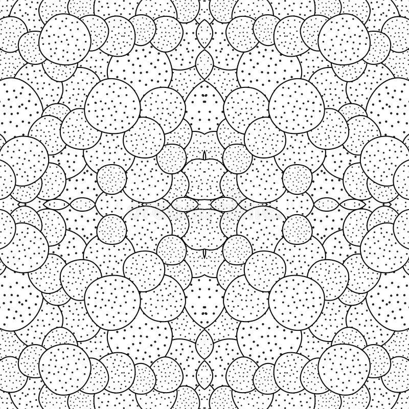 Akcyjnego bezszwowego doodle czarny i biały wzór orient Ab ilustracja wektor