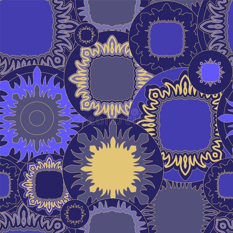 Akcyjnego bezszwowego doodle kwiecisty wzór orient ilustracji