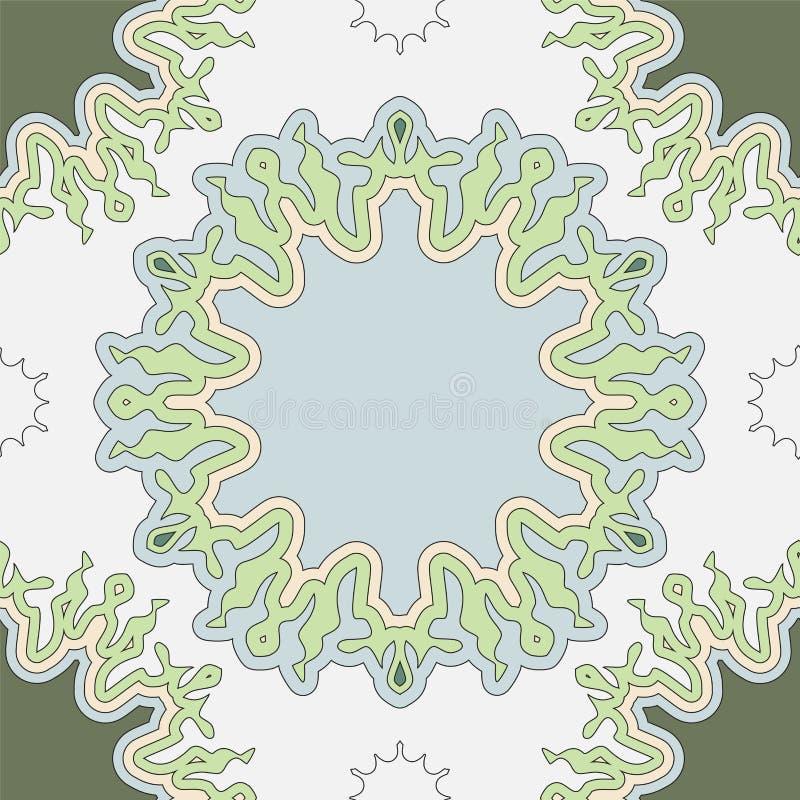 Akcyjnego bezszwowego doodle kwiecisty wzór orient ilustracja wektor