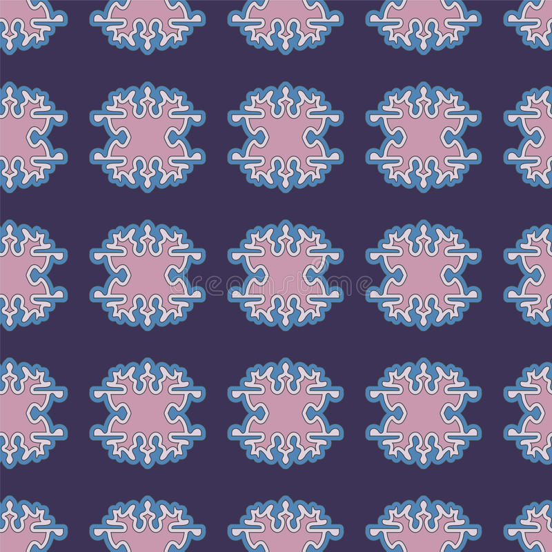 Akcyjnego bezszwowego doodle kwiecisty wzór orient royalty ilustracja