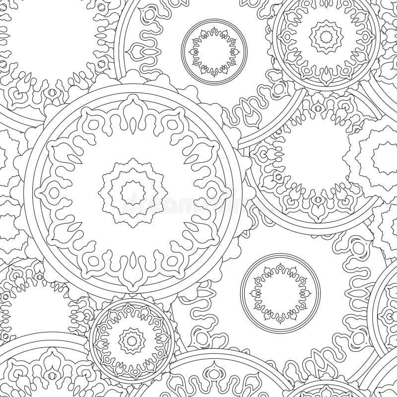 Akcyjnego bezszwowego doodle kwiecisty wzór orient Boho royalty ilustracja