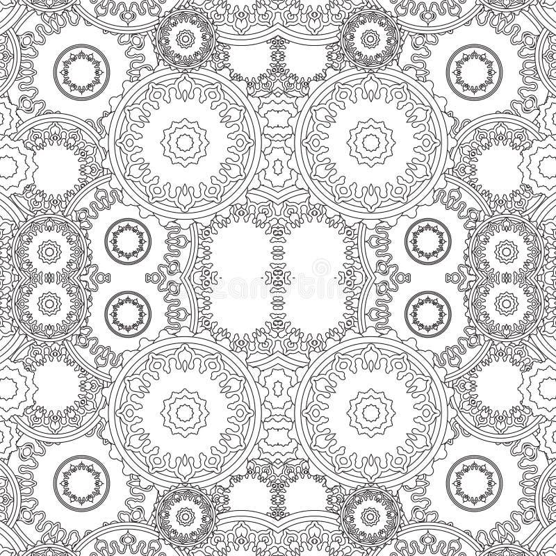 Akcyjnego bezszwowego doodle kwiecisty wzór orient Boho ilustracji