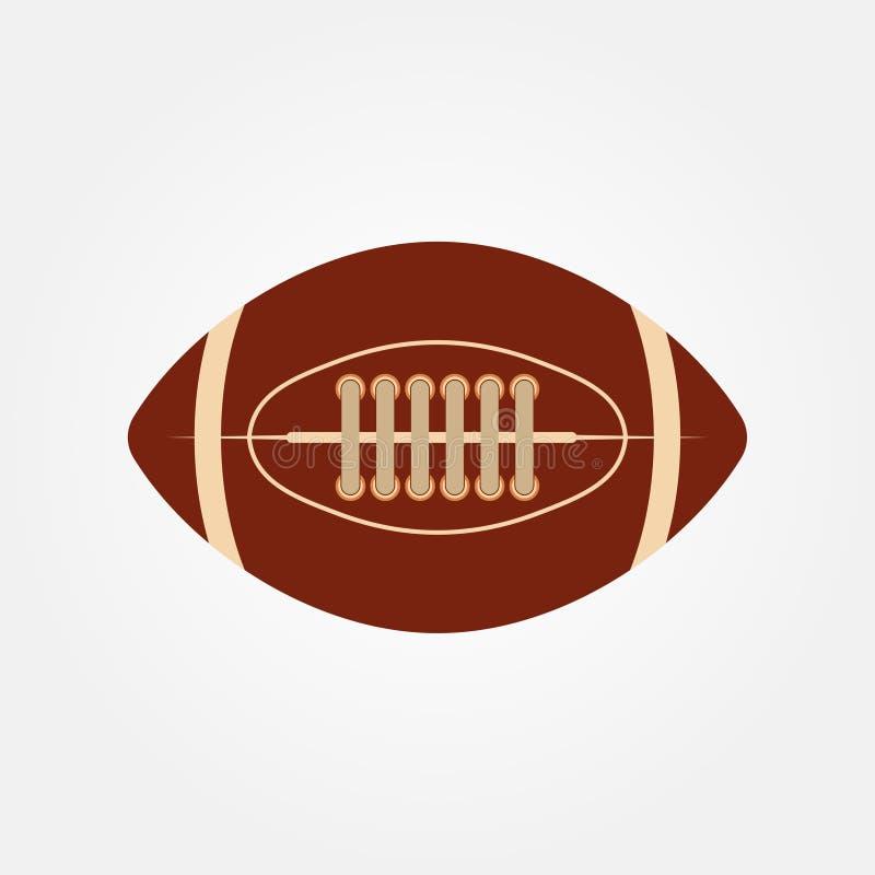 Akcyjnego wektorowego balowego futbolu amerykańskiego ikony wektoru owalna ilustracja royalty ilustracja