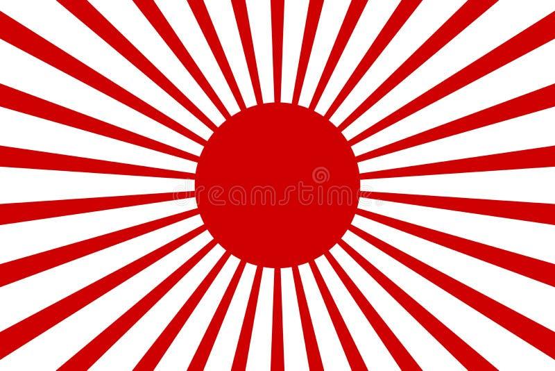 Akcyjnego wektorowego Japan słońca czerwonego tapetowego tła promienia wektorowy ilustracyjny retro tło 2 royalty ilustracja