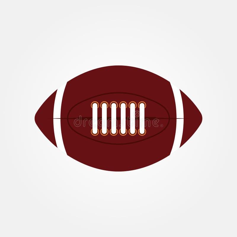 Akcyjnej wektorowej balowej futbol amerykański owalnej ikony wektorowa ilustracja 2 ilustracji