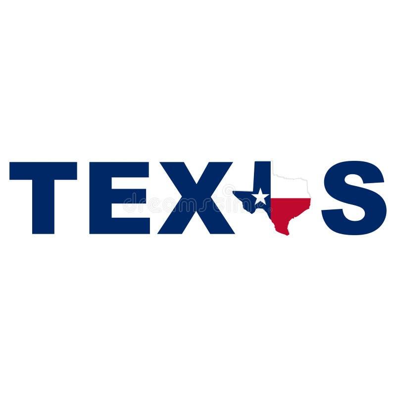 Akcyjnej wektorowej Texas mapy ikony Wektorowa ilustracja 6 obraz stock