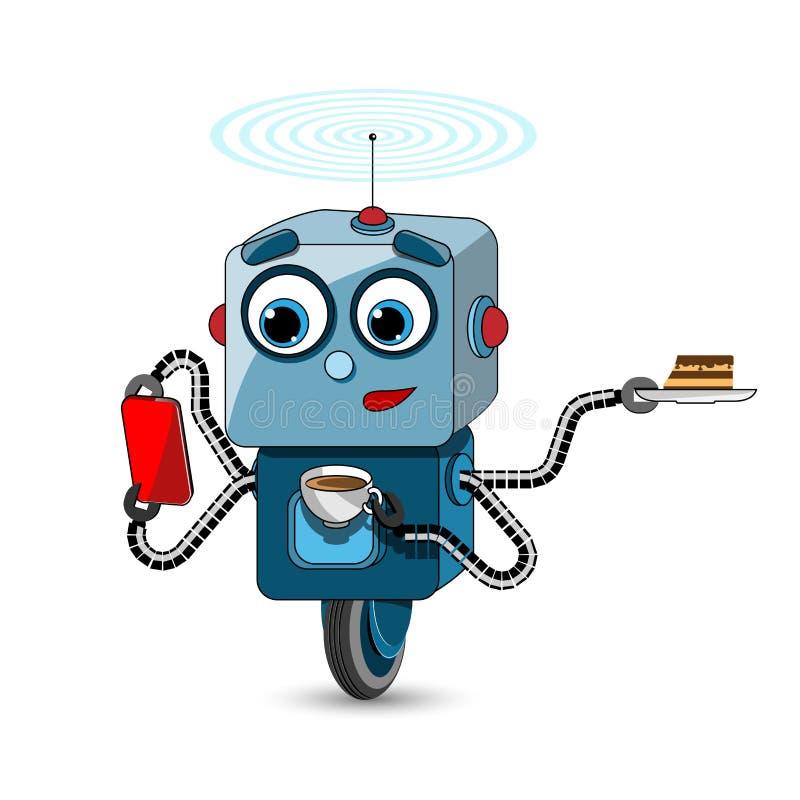 Akcyjny Ilustracyjny Wielofunkcyjny robot ilustracja wektor