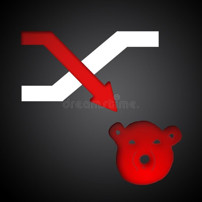 Akcyjny symbol ilustracja wektor