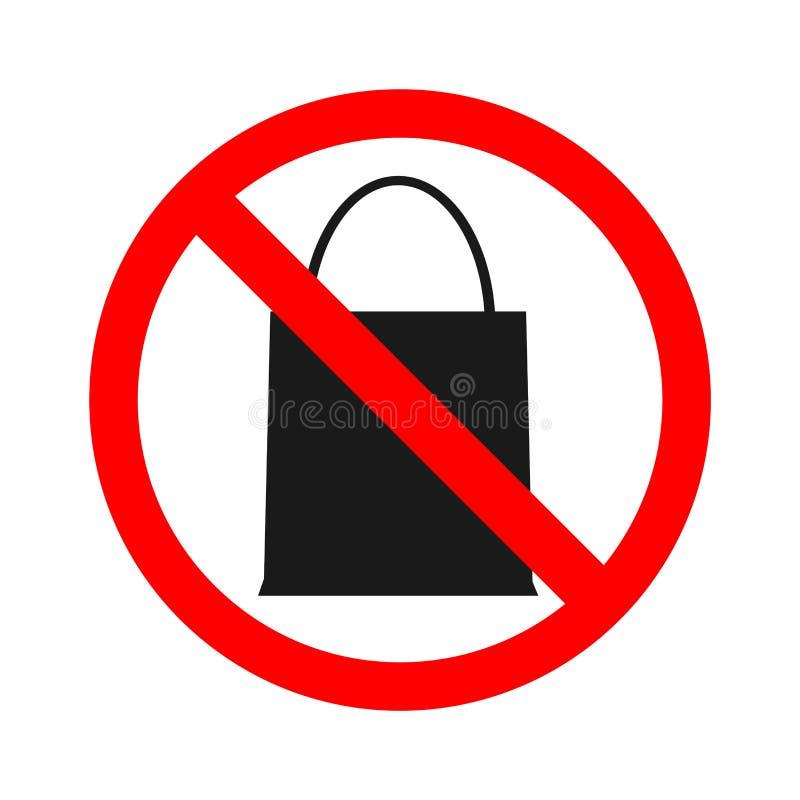 Akcyjny wektor żadny torby prohibicja dla przynosić paczki torbę Don ` t przynosi cokolwiek ilustracji
