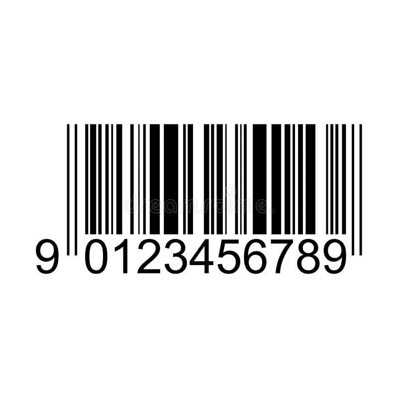 Akcyjny wektorowy barcode 1 ilustracja wektor