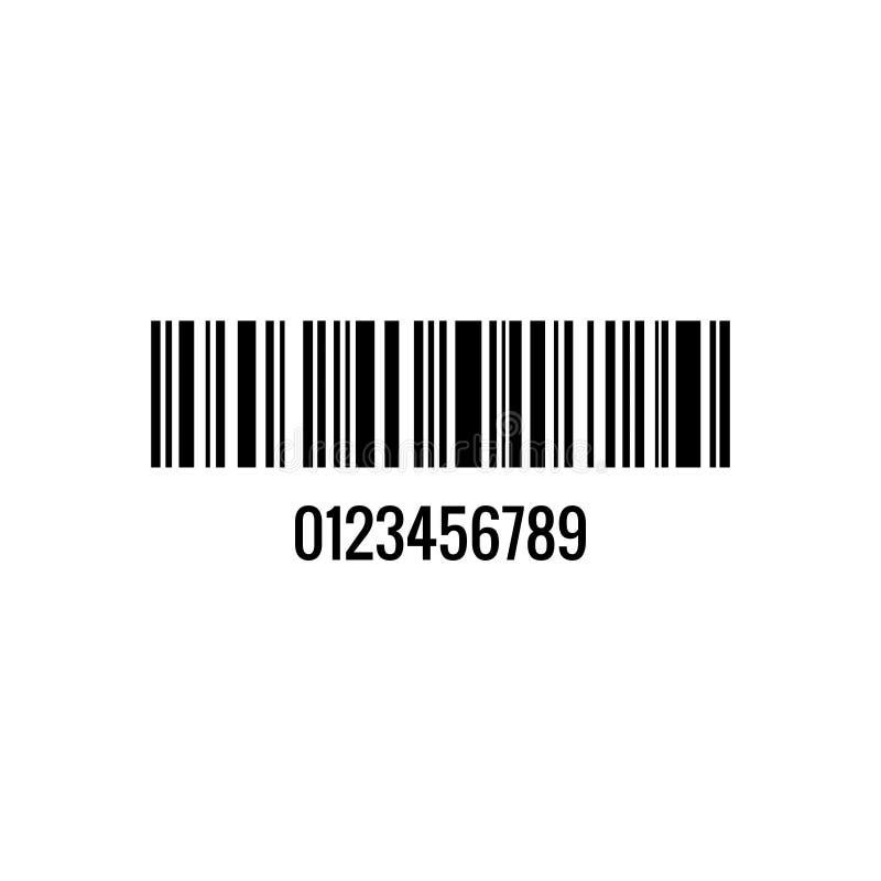 Akcyjny wektorowy barcode 10 ilustracja wektor