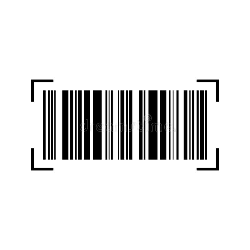 Akcyjny wektorowy barcode 6 ilustracja wektor