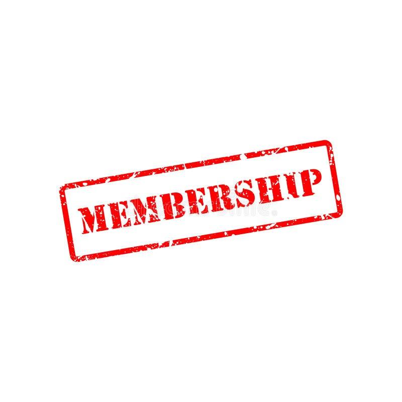 Akcyjny wektorowy członkostwo znaczek 1 royalty ilustracja
