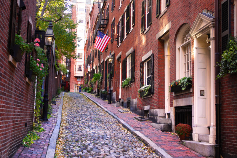 Akcyjny wizerunek Beacon Hill, Boston fotografia royalty free