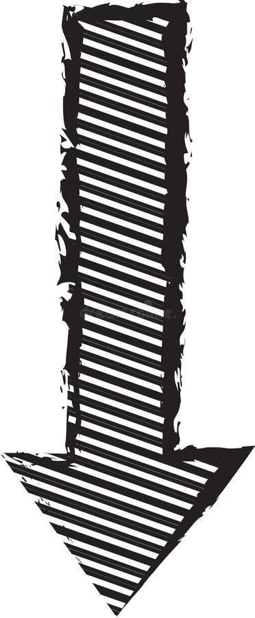Akcyjny wizerunek: Czarna lampas strzała ilustracji