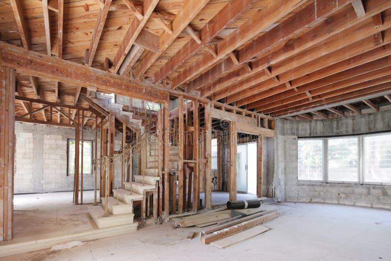 Akcyjny wizerunku domu wnętrze w budowie zdjęcia royalty free