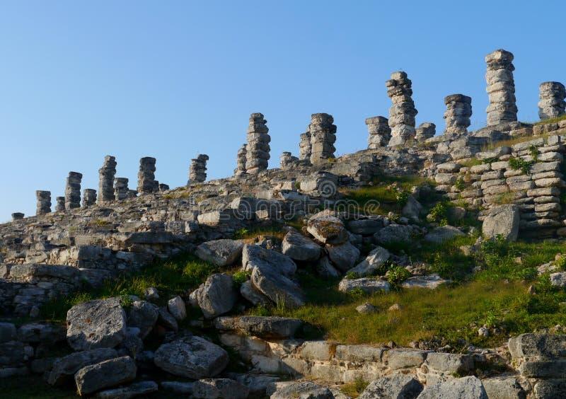 Ake pyramid Maya mexico history culture travel sigtseeing tourism. Stones royalty free stock photos