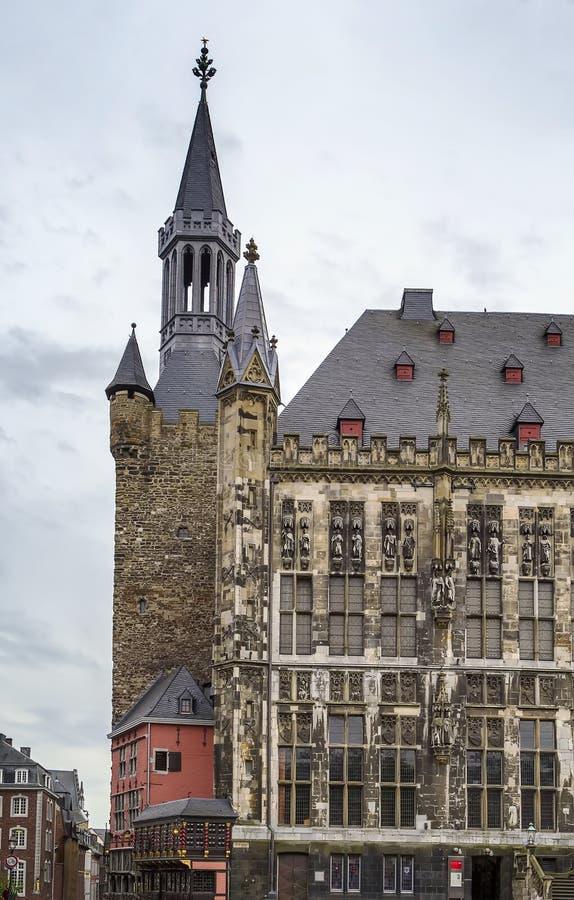 Aken Rathaus (stadhuis), Duitsland royalty-vrije stock fotografie