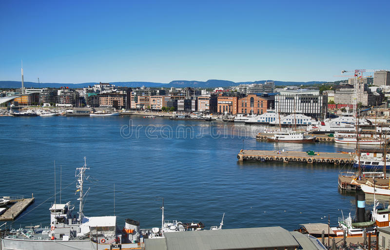 Aker Brygge, Όσλο, Νορβηγία στοκ εικόνες με δικαίωμα ελεύθερης χρήσης