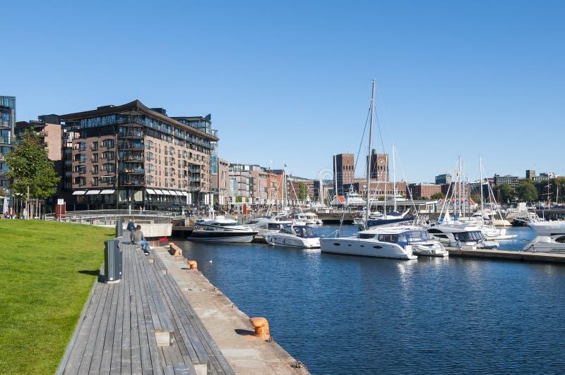 Aker Brygge, Oslo obraz stock
