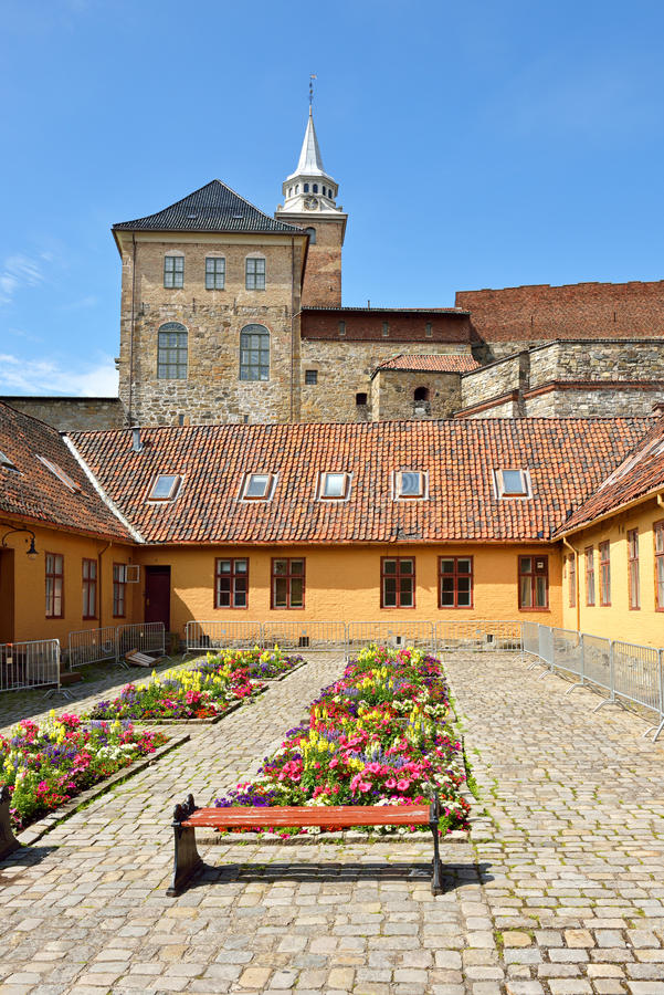 Akershus Festung kasernen stockbild