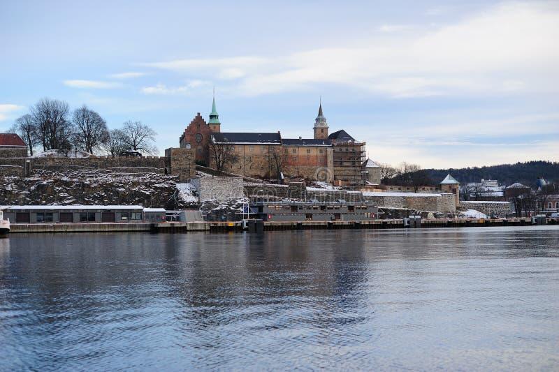 akershus forteczny średniowieczny Oslo obraz stock