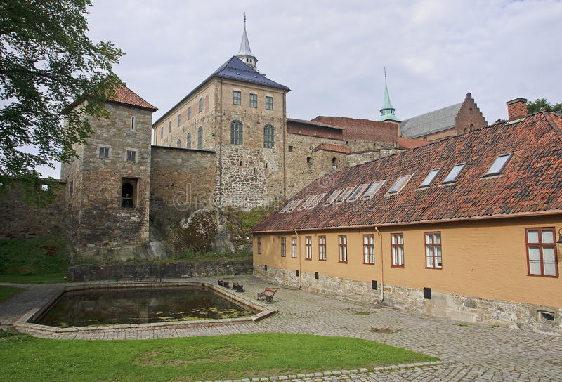 Akershus Fortress in Oslo royalty free stock images