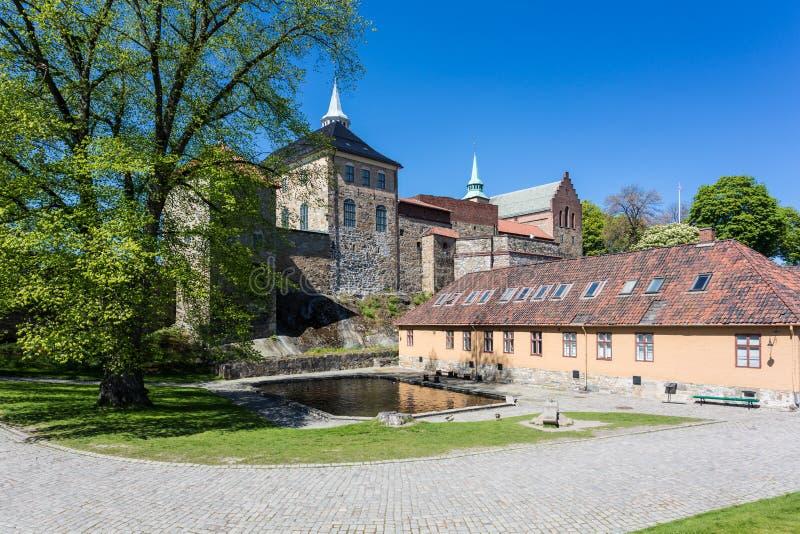 Akershusfort in Oslo royalty-vrije stock afbeelding