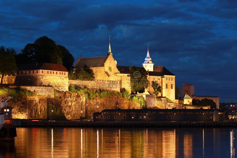 Akershusvesting en kasteel in Oslo, Noorwegen stock fotografie