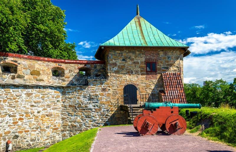 Akershusvesting in Oslo, Noorwegen stock foto's