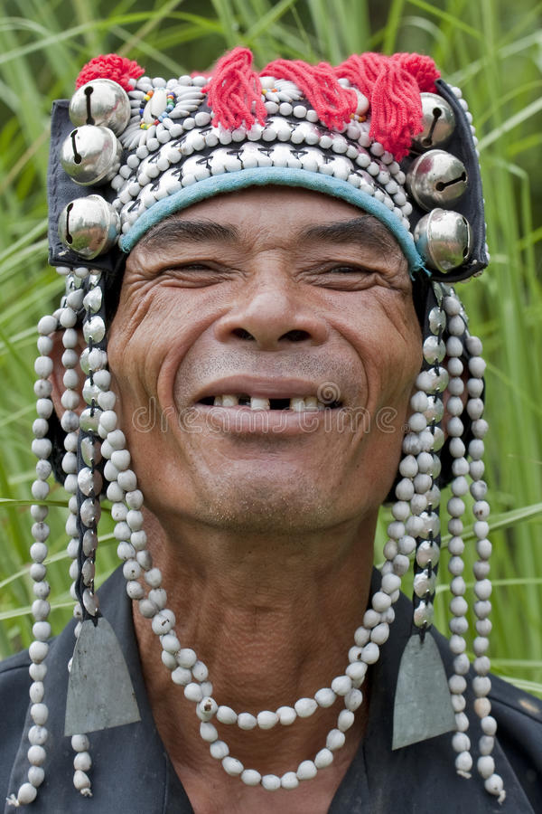 akha Asia mężczyzna portret zdjęcia royalty free