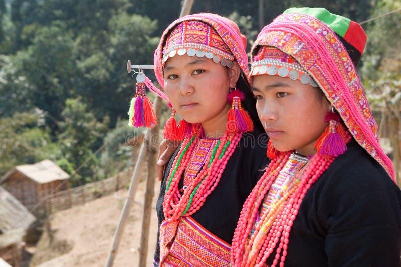 Akha Frau in Laos lizenzfreies stockfoto
