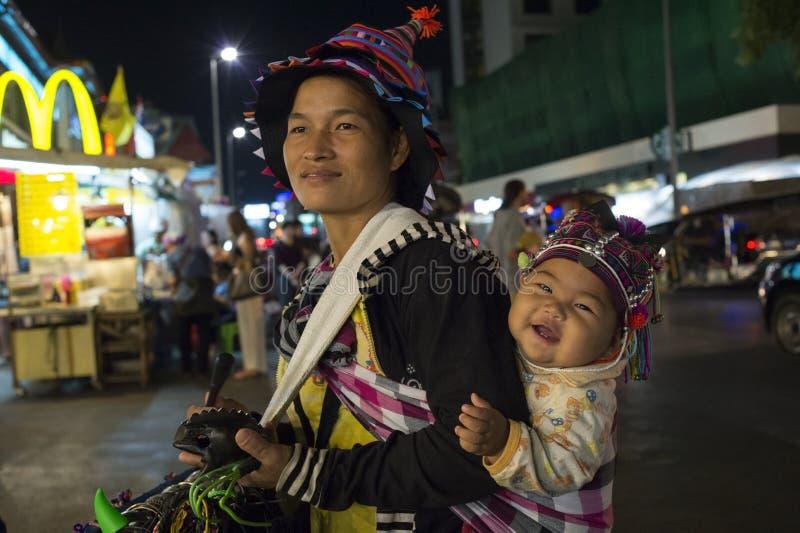 Akha i den Chiangmai staden royaltyfri bild