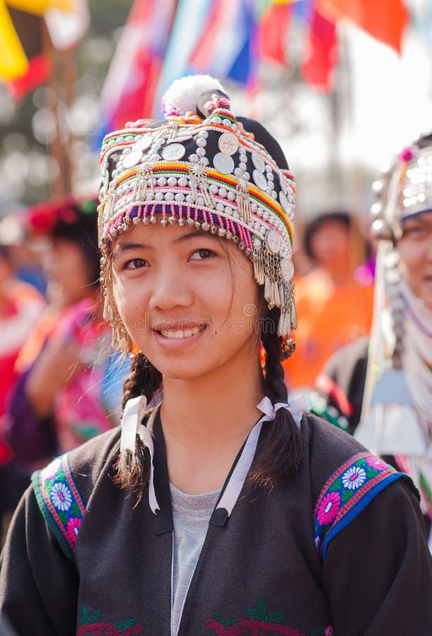 Akha young girl stock image