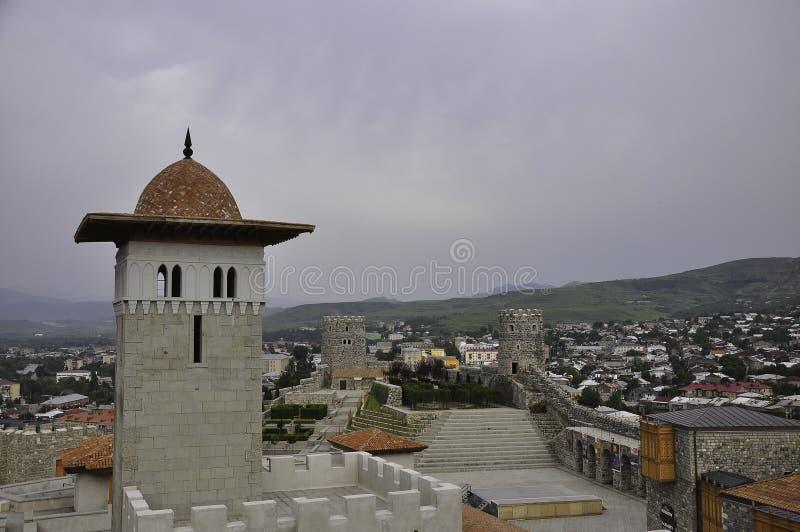 Akhaltsikhe stad royaltyfri foto