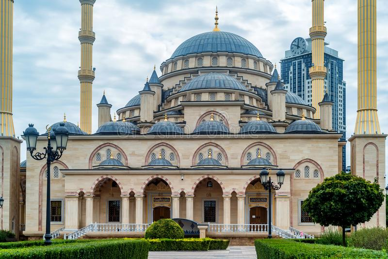 Akhmad Kadyrov meczet w Grozny, Czeczenia, Rosja obraz stock
