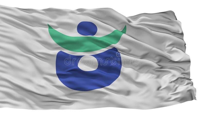 Aki City Flag, Japan, Hiroshima Prefecture, Isolated On White Background. Aki City Flag, Country Japan, Hiroshima Prefecture, Isolated On White Background royalty free illustration
