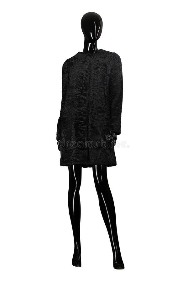 Żakiet kobiety mannequin biały i przejrzysty tło zdjęcia stock
