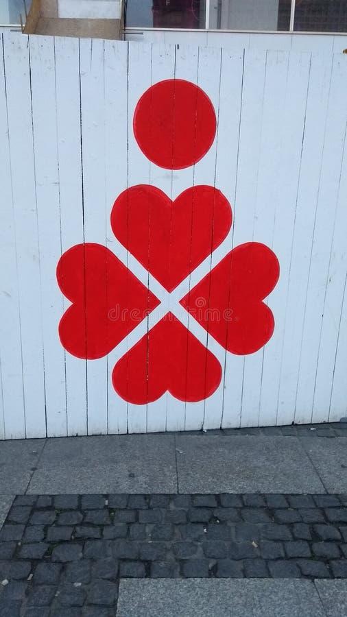 Żakiet ręki Berlin niedźwiedzia graffiti logo zdjęcie stock