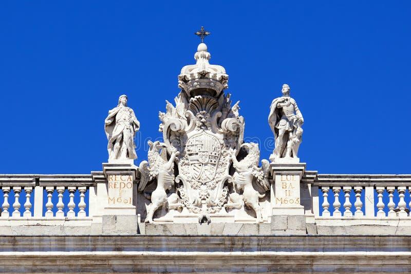 Żakiet ręki w Royal Palace, Madryt obraz stock