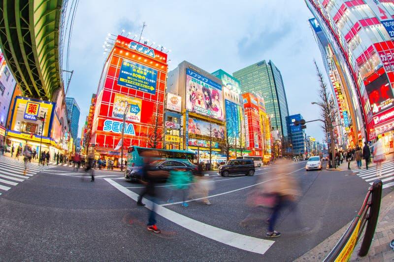 Akihabara no Tóquio em Japão foto de stock